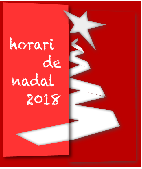 Horaris d'entrenament NADAL 2018